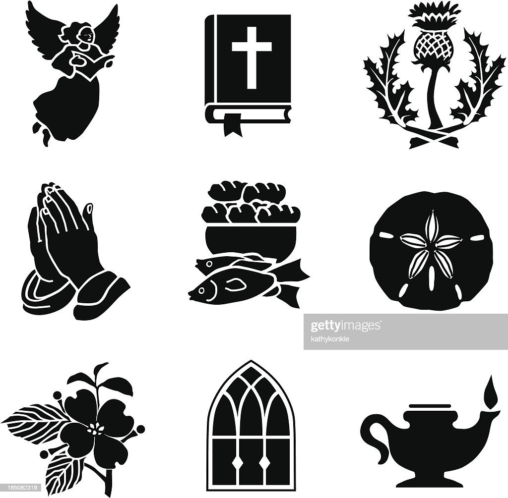 Christian symbols 01 vector art getty images christian symbols 01 vector art biocorpaavc Image collections
