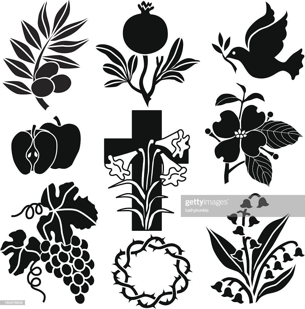 Christian symbols from nature vector art getty images christian symbols from nature vector art biocorpaavc Image collections