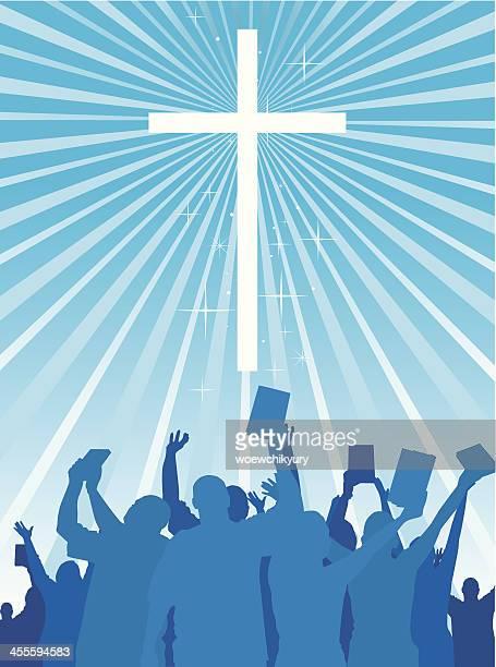 christian worship - free bible image stock illustrations