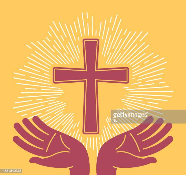 キリスト教のクロス祈りの宗教のシンボル - 復活徹夜祭点のイラスト素材/クリップアート素材/マンガ素材/アイコン素材