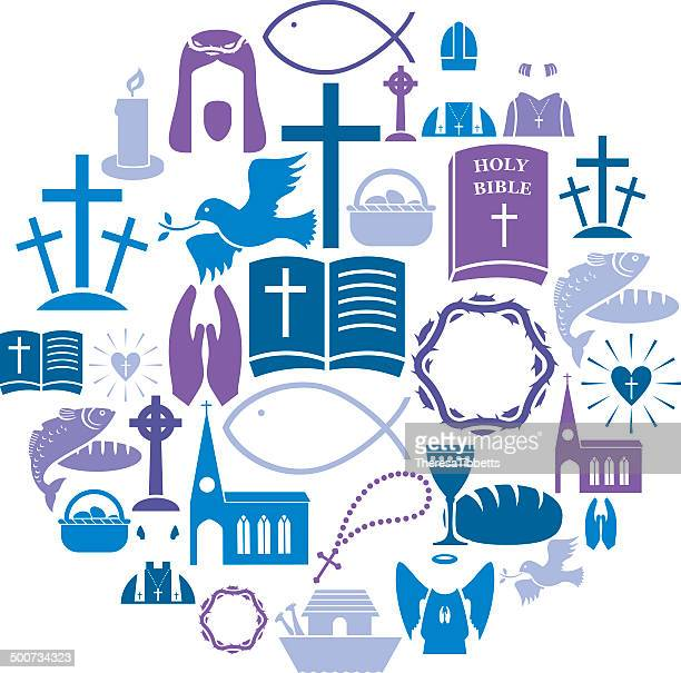 christianity icon set - christianity stock illustrations