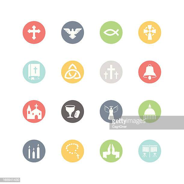 christianity icons : minimal style - new testament stock illustrations