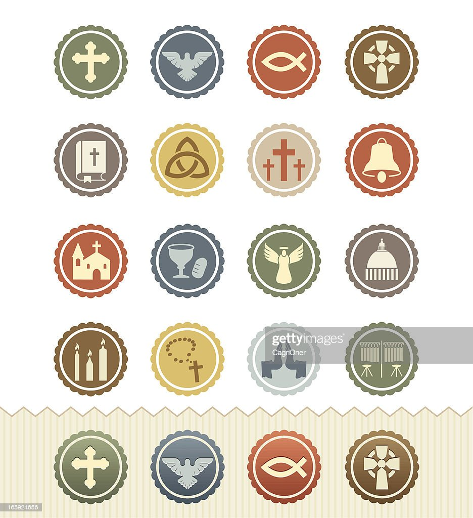 Christianity Icons : Vintage Badge Series