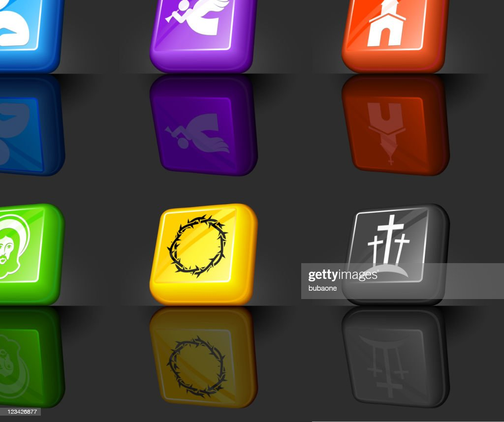 Christianity internet royalty free vector icon set