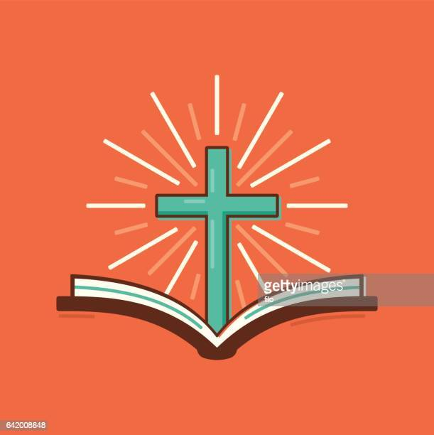 christianity religious bible cross symbol - biblical event stock illustrations