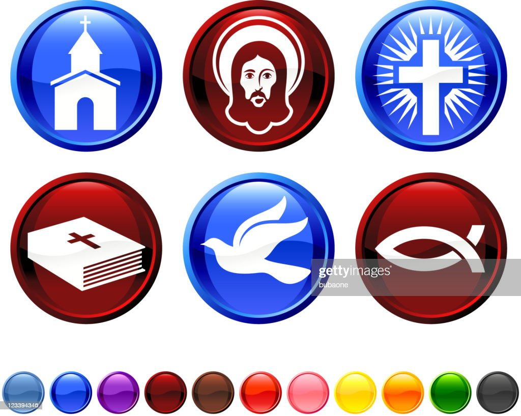 Christianity royalty free vector icon set