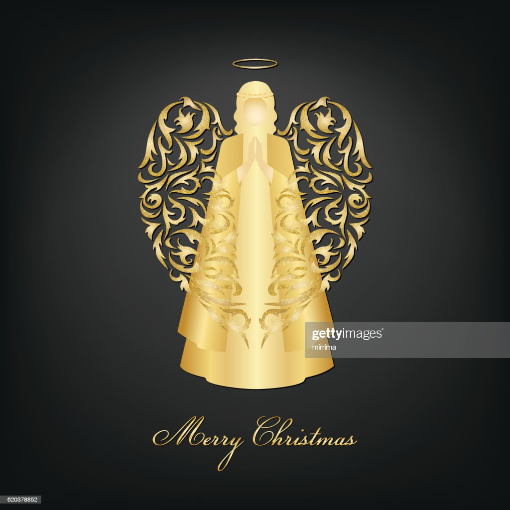 Christma Angel with ornamental wings