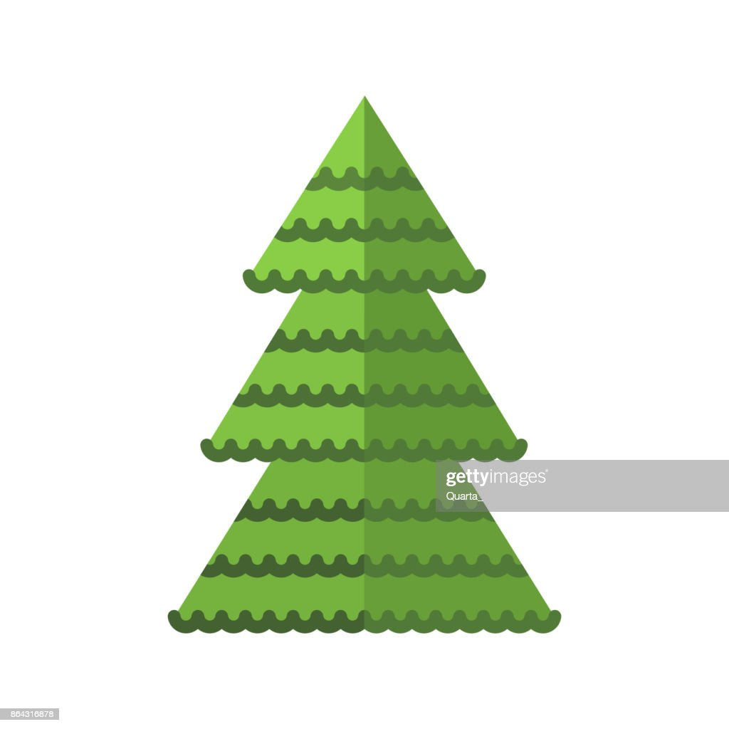 christma tree flat
