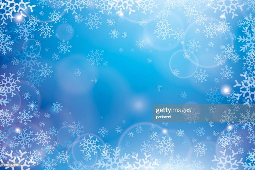 Weihnachten Abstrakten Hintergrund Muster Von Schneeflocken Schnee ...