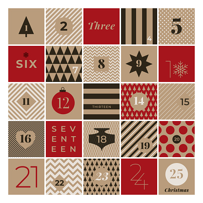 Christmas advent calendar - gettyimageskorea
