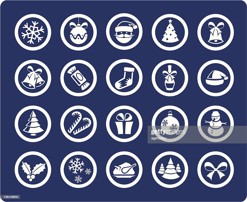 Christmas and New Year 20 icons (set #01)