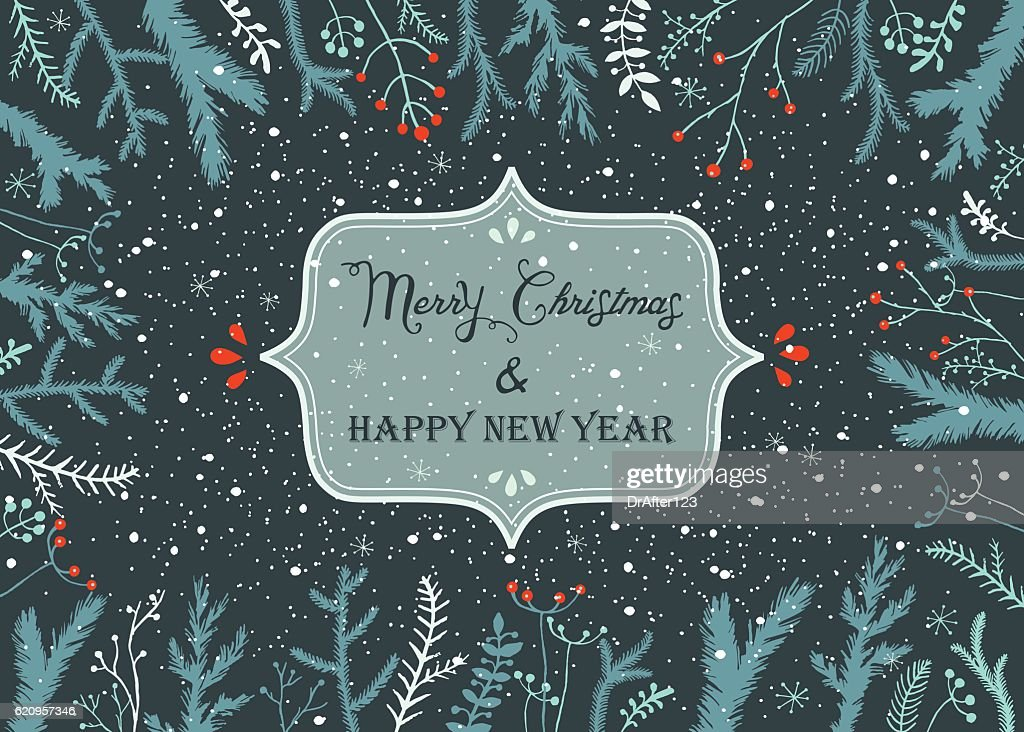 christmas and new year background vector art