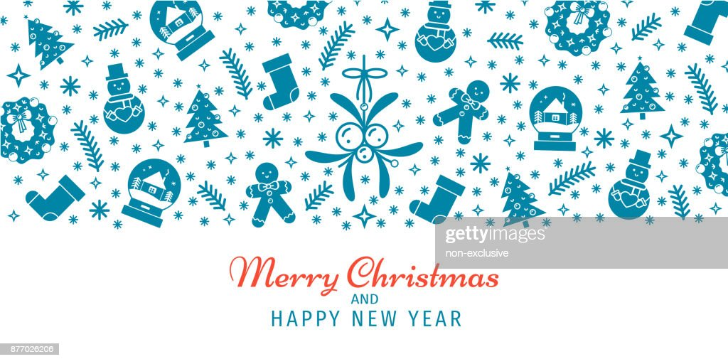 Weihnachten Und Neujahr Banner Hintergrund Header Tapete Vorlage ...