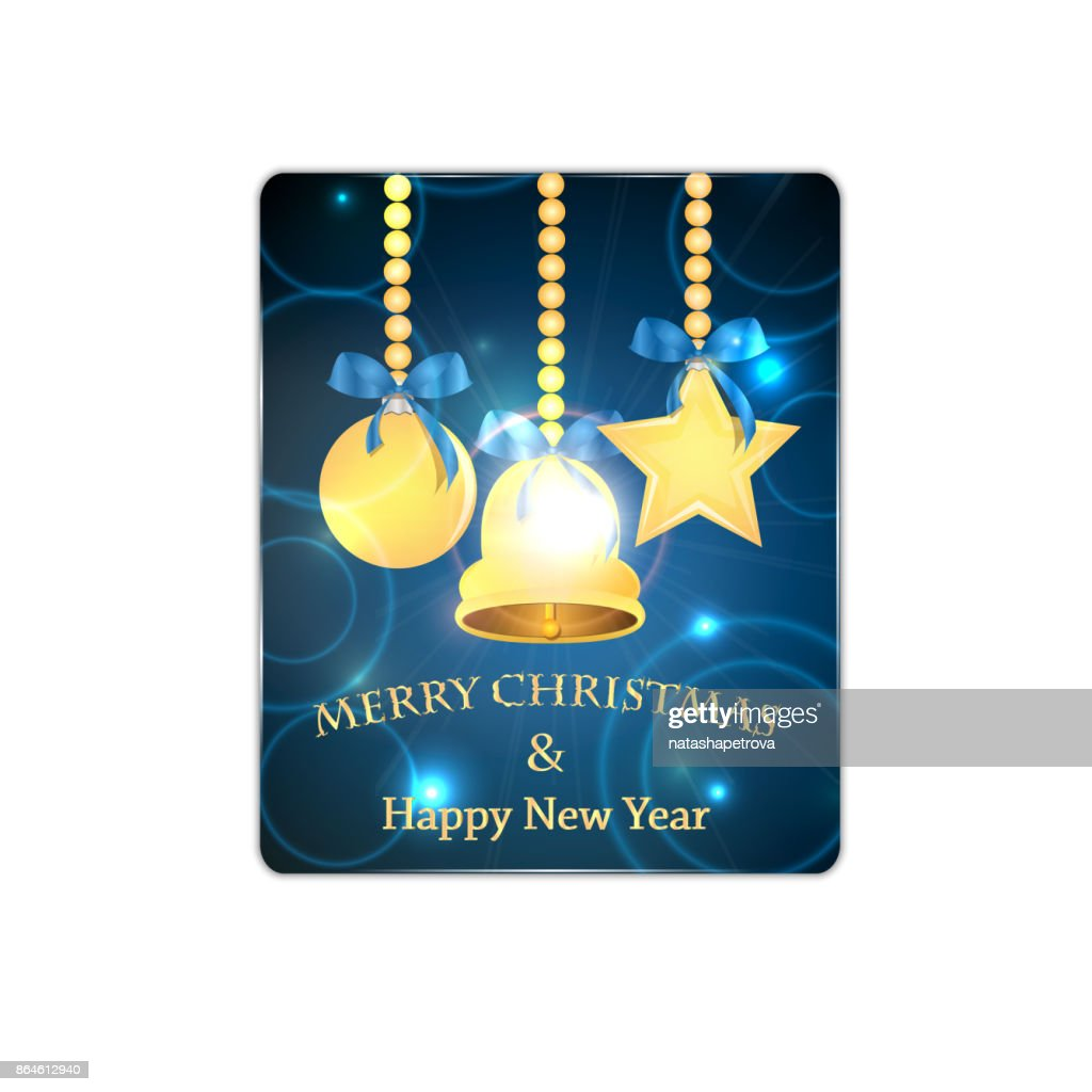 Christmas and New Year banner with  Christmas decorations
