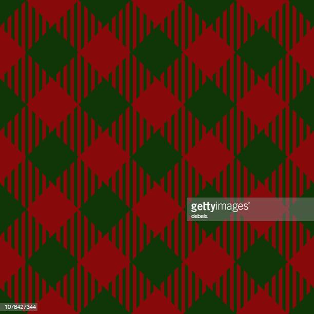 Christmas And New Year Decorative Lumberjack Pattern Background