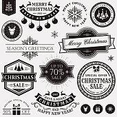 Christmas and New Year design elements.
