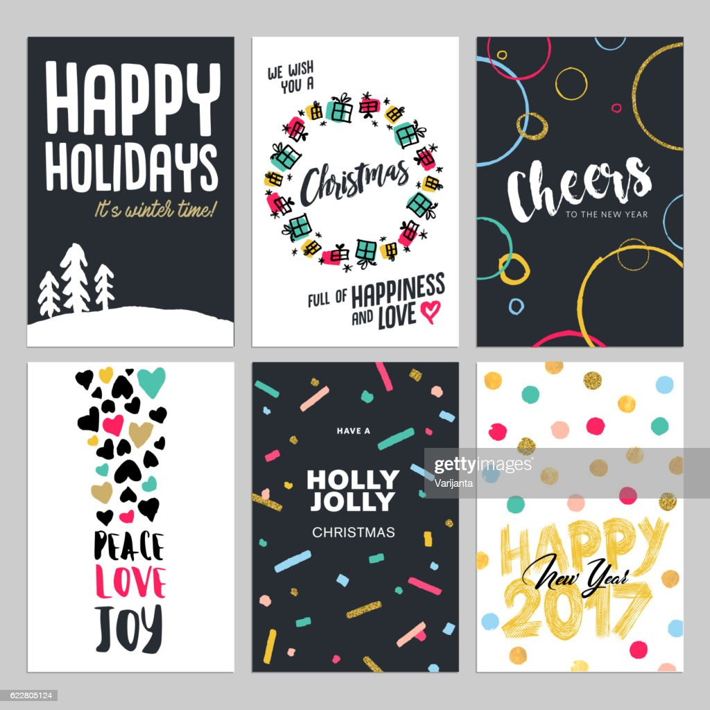 Christmas and new year flat design greeting cards set vector art christmas and new year flat design greeting cards set vector art m4hsunfo