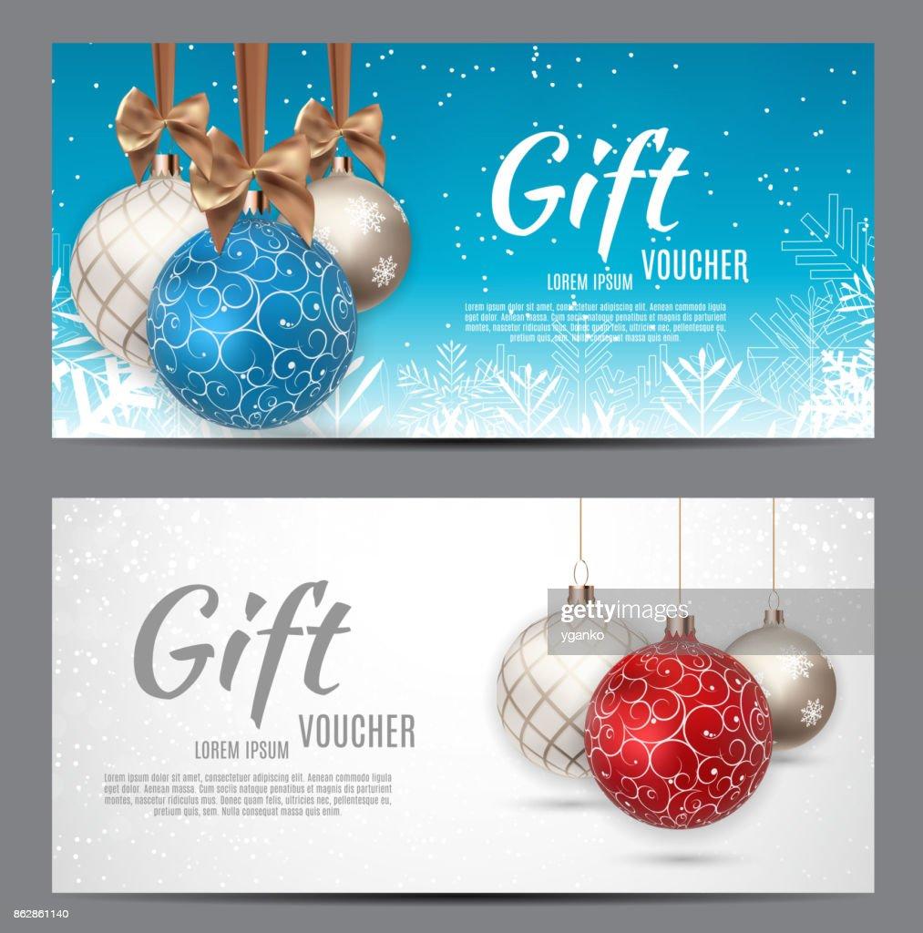 Weihnachten Und Neues Jahr Geschenkgutschein ...