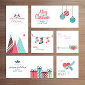 Christmas and New Year greeting card templates