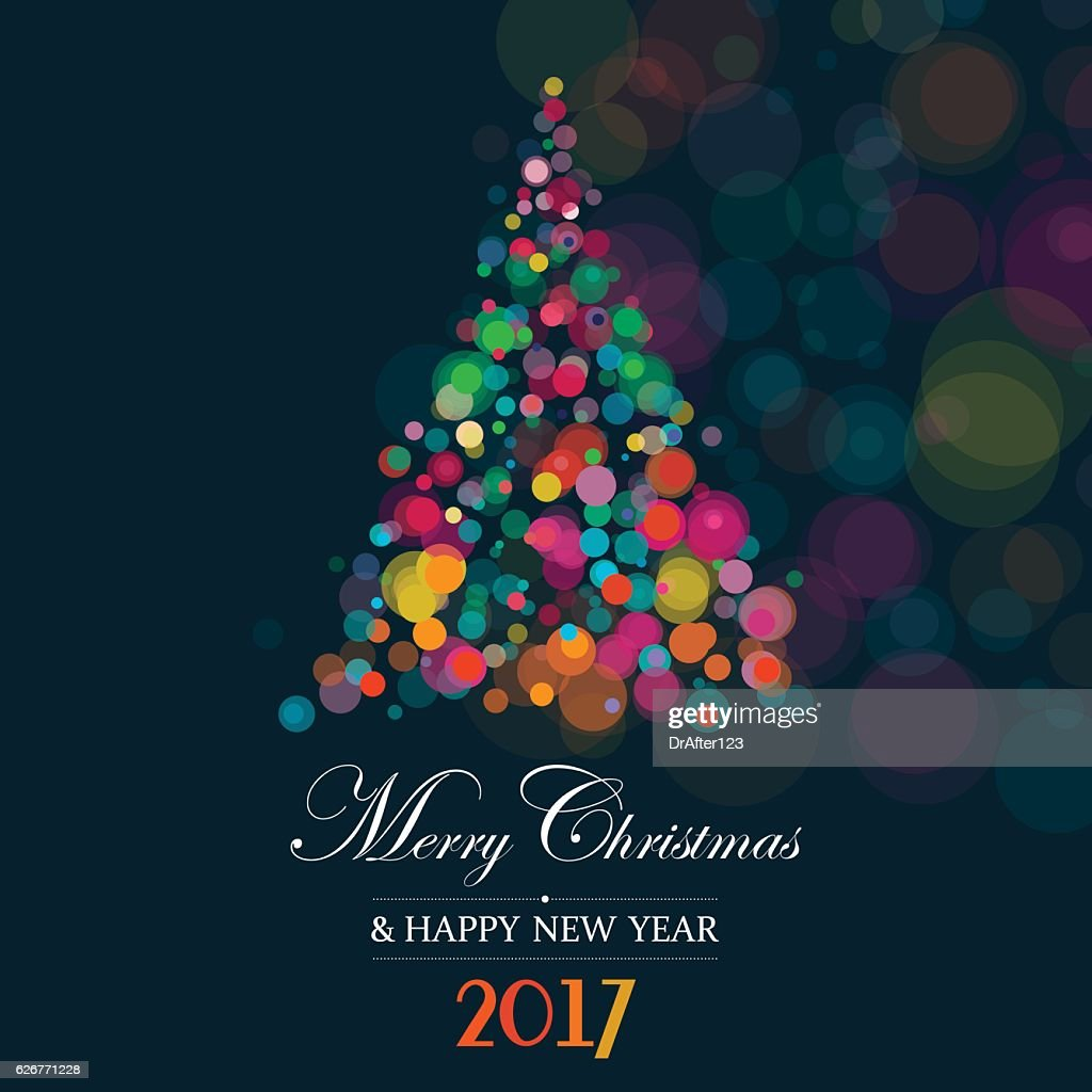 Christmas And New Year Greeting Card : Vector Art