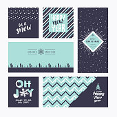Christmas and New Year greeting cards collection
