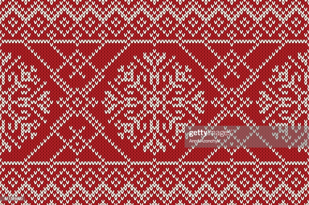 Christmas and New Year Knitting Seamless Pattern