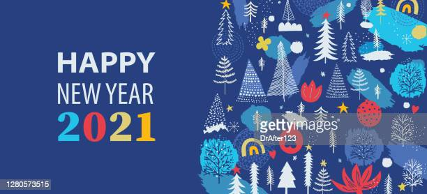 christmas and new year seasonal banner - 2021 stock illustrations