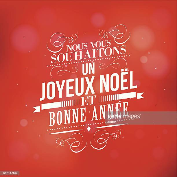 christmas and new year wish in french - french culture stock illustrations