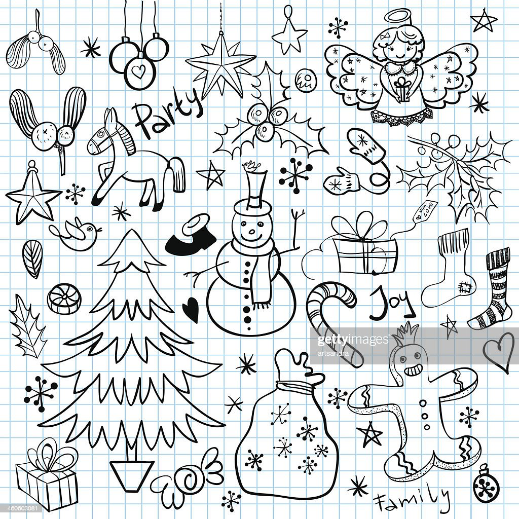 Christmas and Winter Holiday Doodles