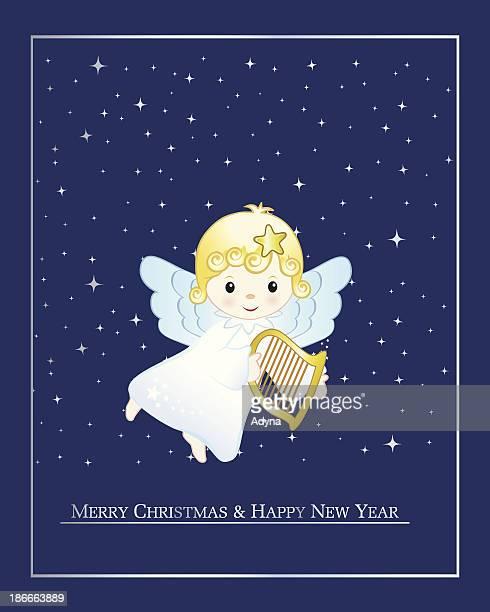 christmas angel - star of bethlehem religious symbol stock illustrations, clip art, cartoons, & icons