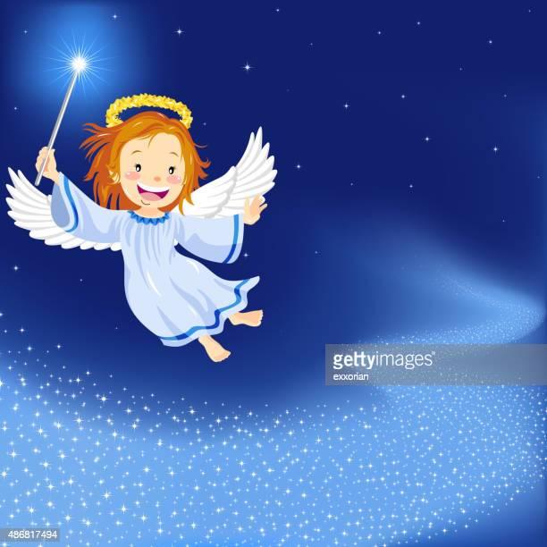 christmas angel - angel stock illustrations