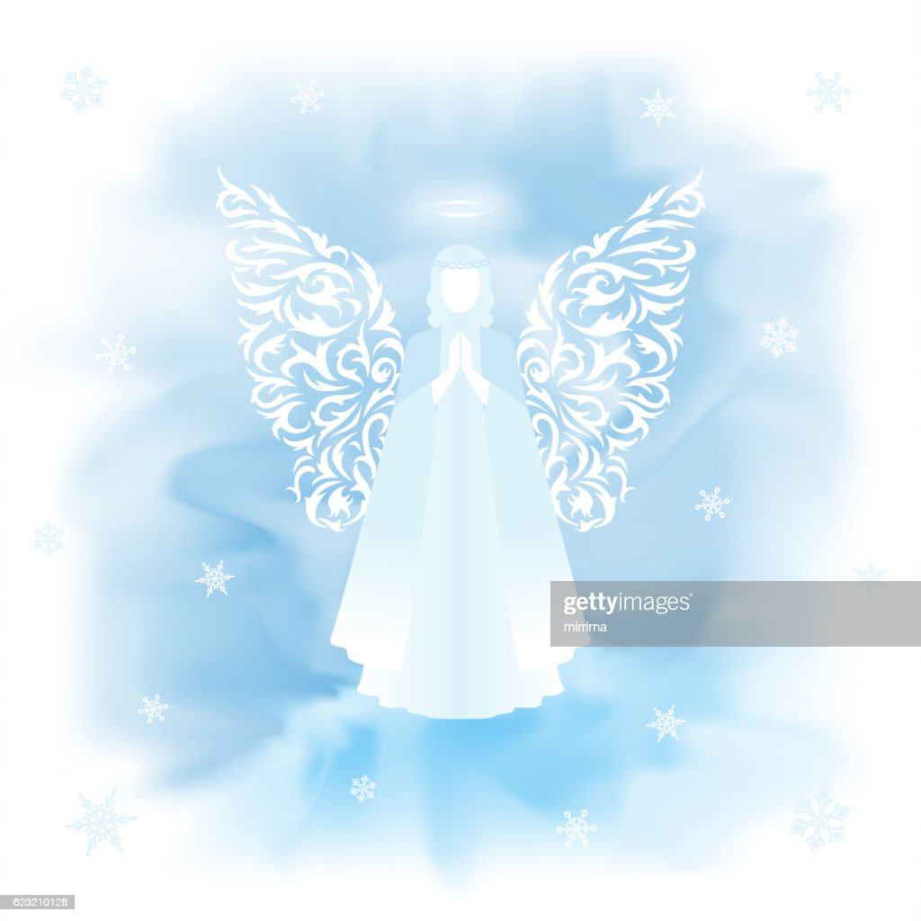 Christmas Angel with ornamental wings