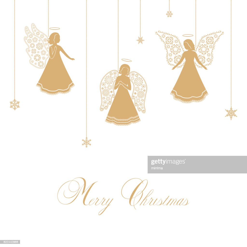 Christmas Angels with ornamental wings