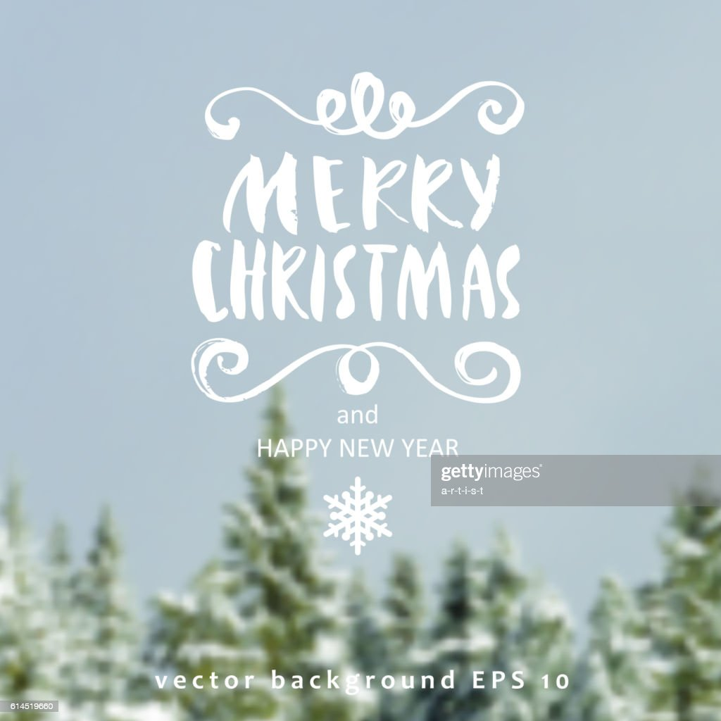 Christmas background and callygraphy