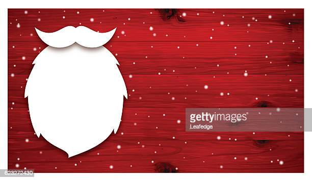 ilustrações de stock, clip art, desenhos animados e ícones de christmas background [beard of santa claus on the red board] - cavanhaque