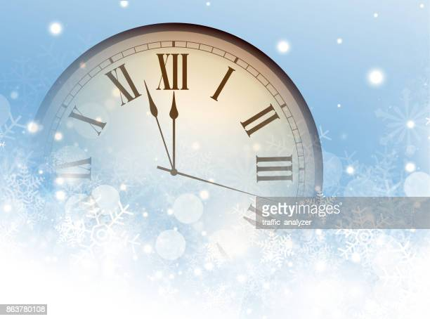 Christmas background - clock