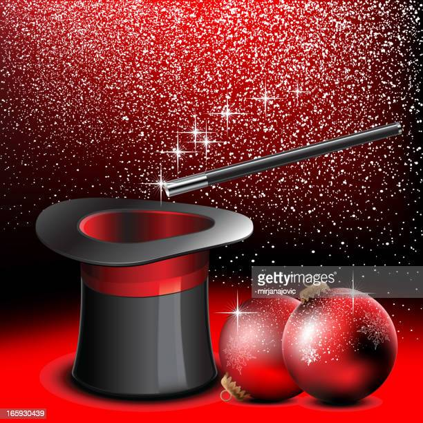 weihnachten hintergrund - wizard stock-grafiken, -clipart, -cartoons und -symbole