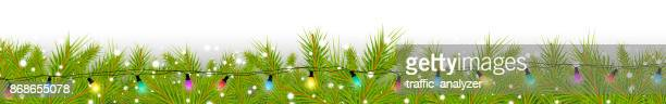 christmas background - panoramic stock illustrations, clip art, cartoons, & icons