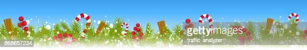 weihnachten hintergrund  - kieferngewächse stock-grafiken, -clipart, -cartoons und -symbole