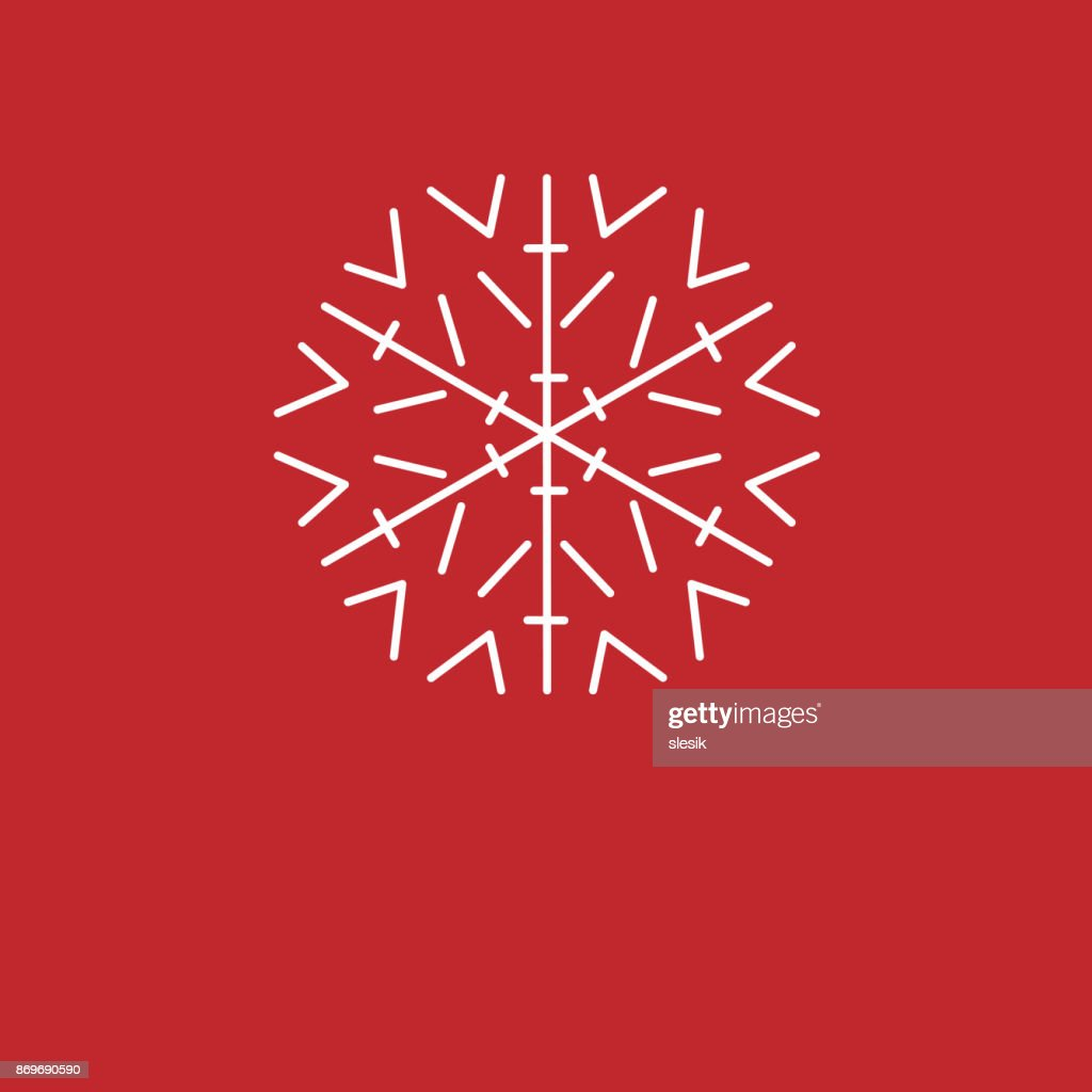 Christmas Background White Snowflakes On Red Background Background
