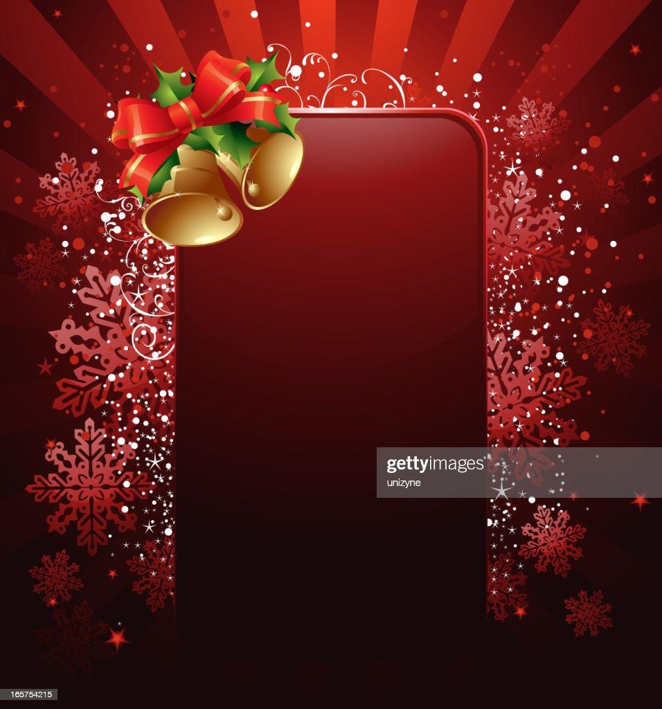 Weihnachten Hintergrund.Weihnachten Hintergrund Mit Glocken Stock Illustration Getty Images