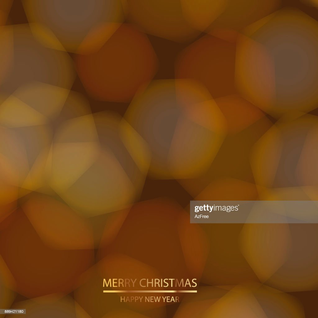 Christmas background with defocused and blured illumination lights. Vector