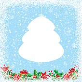 Christmas Background with Empty Speech Bubble