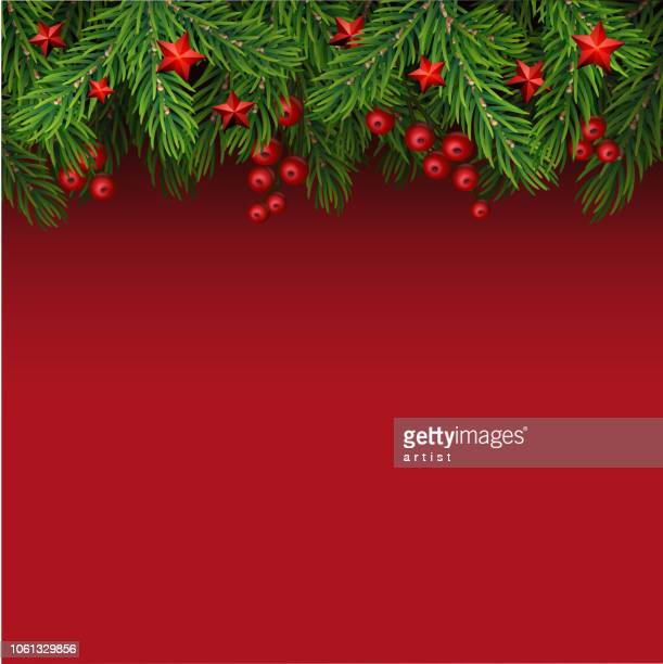 christmas background with fir tree - branch stock illustrations
