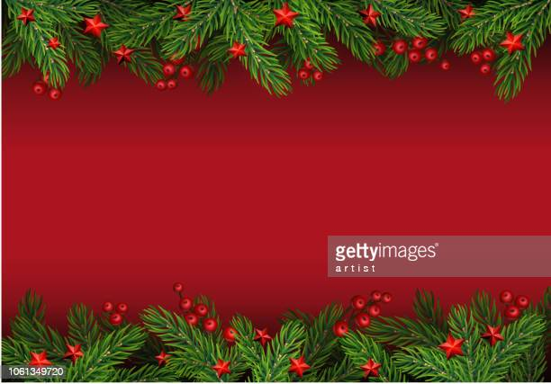 christmas background with fir tree - spruce tree stock illustrations