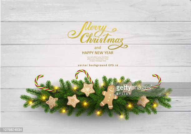 christmas background with fir tree - christmas decoration stock illustrations