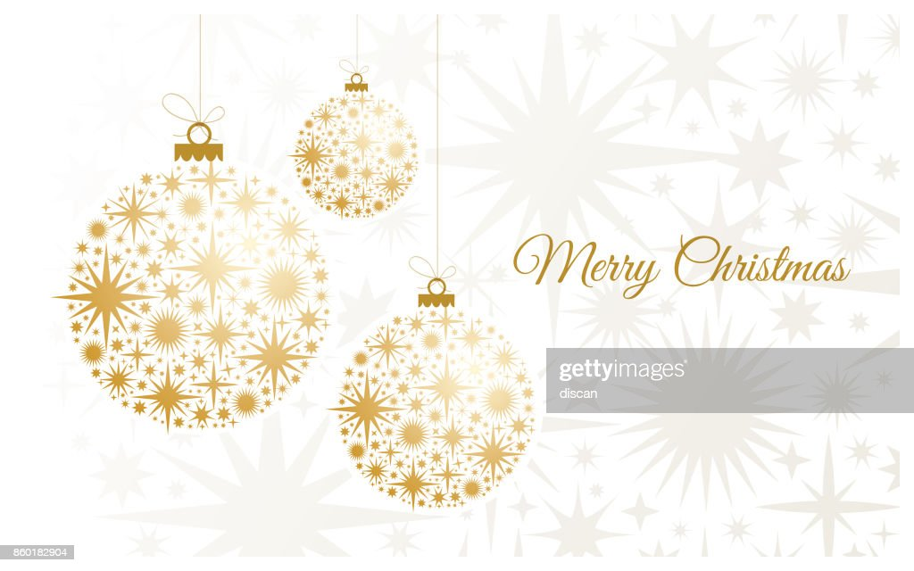 Christmas Background with gold balls. : Illustrazione stock