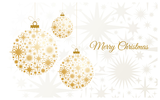 Christmas Background with gold balls. - gettyimageskorea