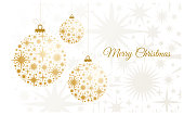 Christmas Background with gold balls.