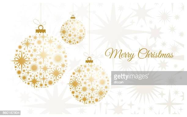 christmas background with gold balls. - sphere stock illustrations